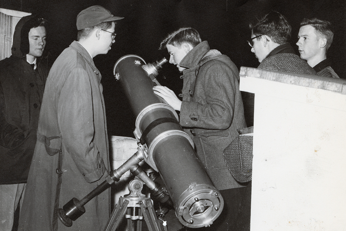 Exonians peer at the cosmos in this undated archival photo.