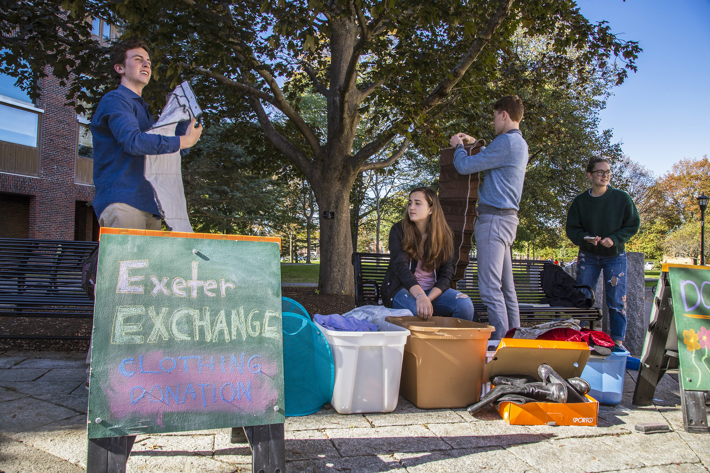 Exchange gathers used clothing at Exeter.
