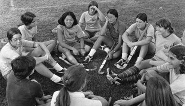Big Red legends share memories of girls athletics