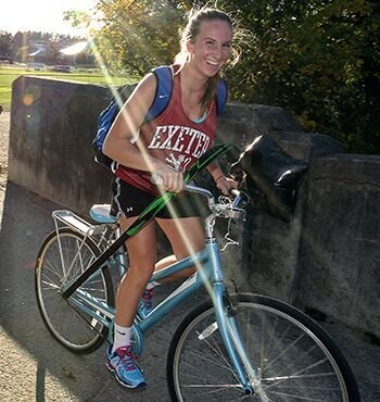 Exeter Athlete riding a bike