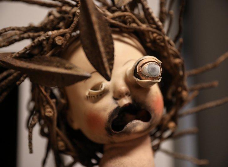 A puppet head.