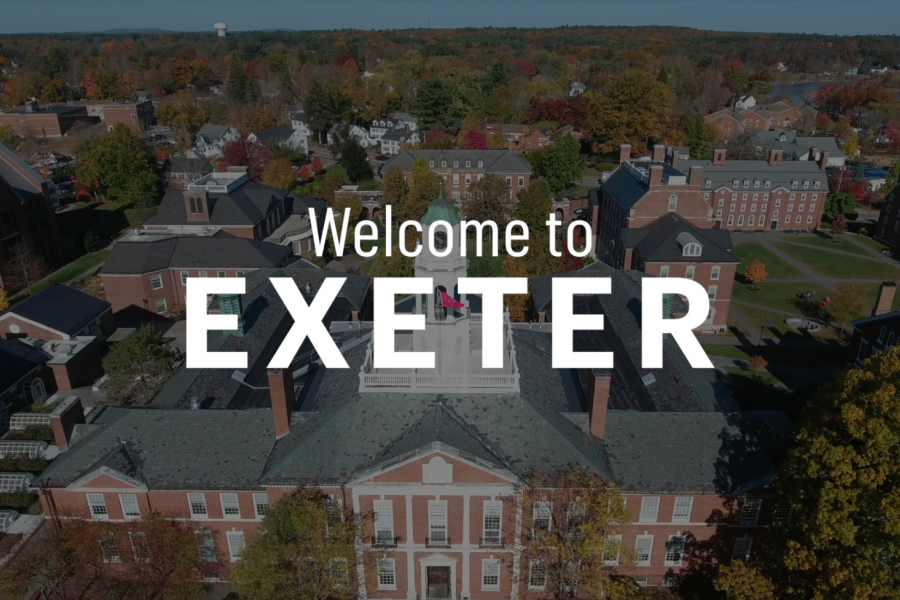 Exeter's campus seen from above.