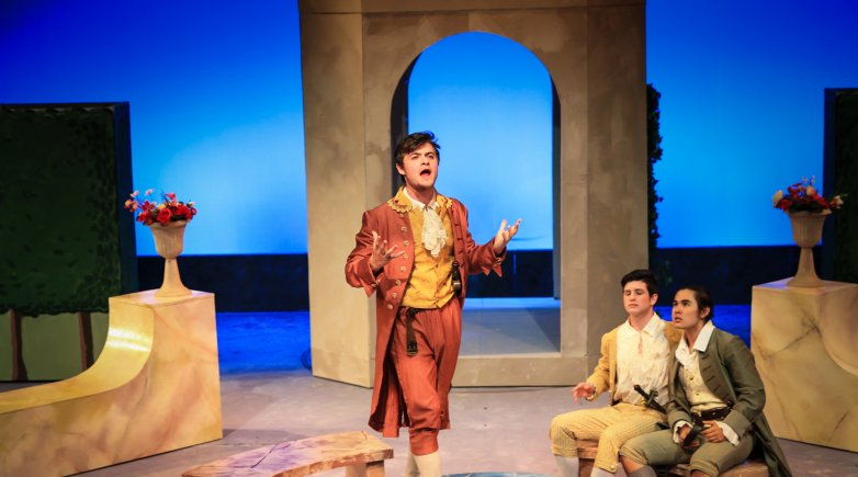"""Exonians perform in """"The Liar"""" in Fisher Theater"""