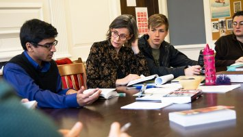 Students in English class at Phillips Exeter Academy