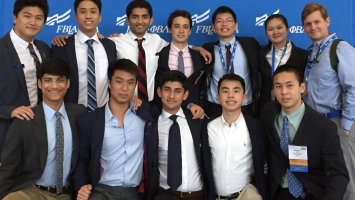 Exeter Business Club members at an FBLA competition