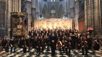 Exeter Concert Choir and Chamber Orchestra students in London