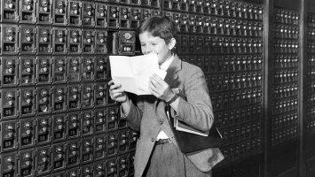 Student at PEA post office – circa 1930's