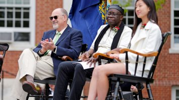 tom Seidenberg and Kwasi Boadi at Exeter's graduation.