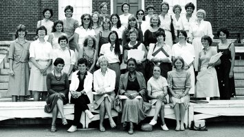 Women faculty of Phillips Exeter Academy in 1983.