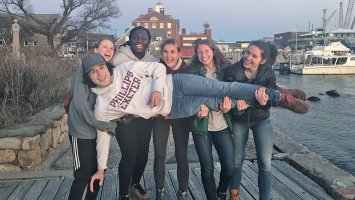 Exeter students at Woods Hole