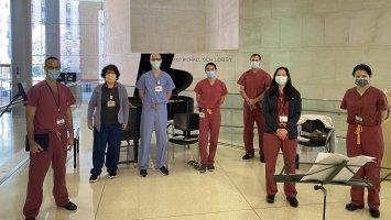 Dr. Zachary Gleit '83 (far left) and
