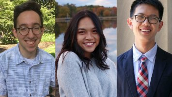 Exeter students Khine Win, Orion Bloomfield and Steven Gao, founders of peaCTF 2019