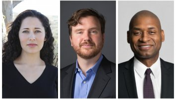 Kirstin Valdez Quade '98, Greg Lukianoff and Charles Blow.