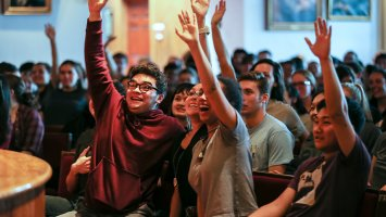 Exeter students volunteer for a workshop during Martin Luther King Jr. Day