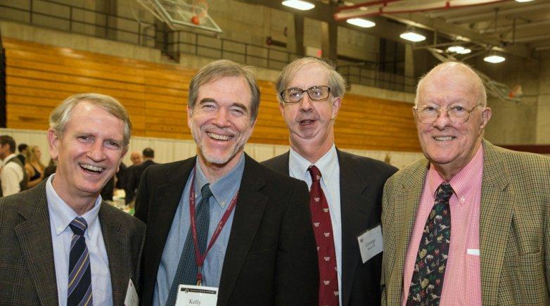 Curt Perry '69, Kelly Teevan '69, George Bain '69 and Joe Bain '41 at Exeter Leadership Weekend.
