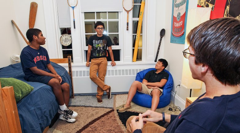 Boys in a dorm at Phillips Exeter Academy.