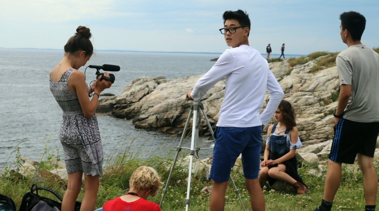 Exeter Summer filmmaking students on Star Island