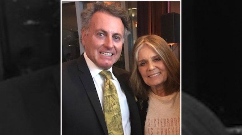 James M. Figetakis with Gloria Steinem