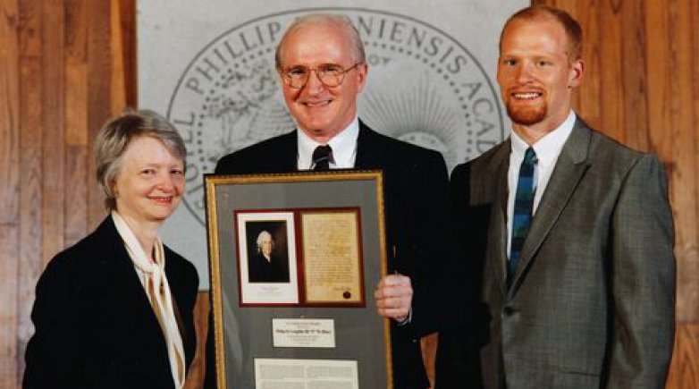 Phillip H. Loughlin accepts the Founder's Day Award