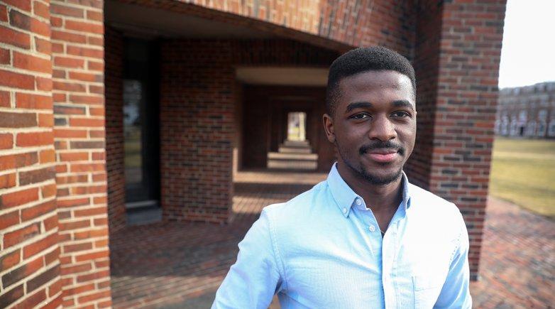 Exeter student Louis Mukama