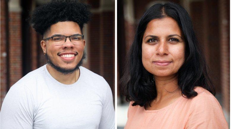 Kevin Pajaro-Marinez (l) and Gayatri Ramesh