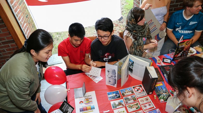 Exonians enjoy International Festival.