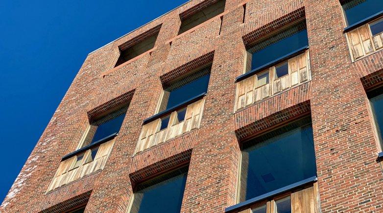 The facade of the Kahn Library