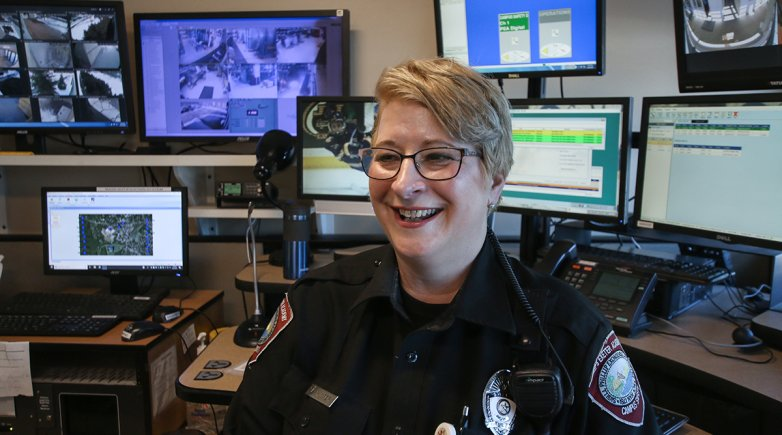 Lauri Winter has served as a campus safety officer for a decade.