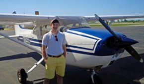 Exeter student Peter Chinburg received flying license.