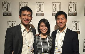 Kang, Jin and Tyan at Forbes 30 Under 30.