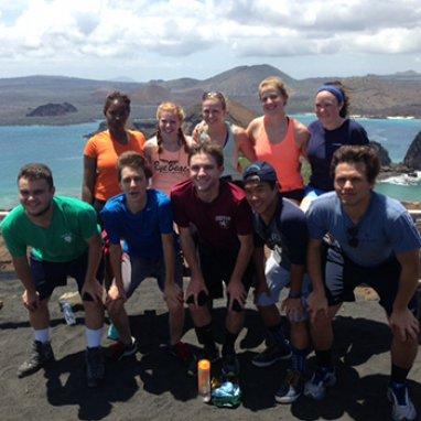 Exeter students in Ecuador
