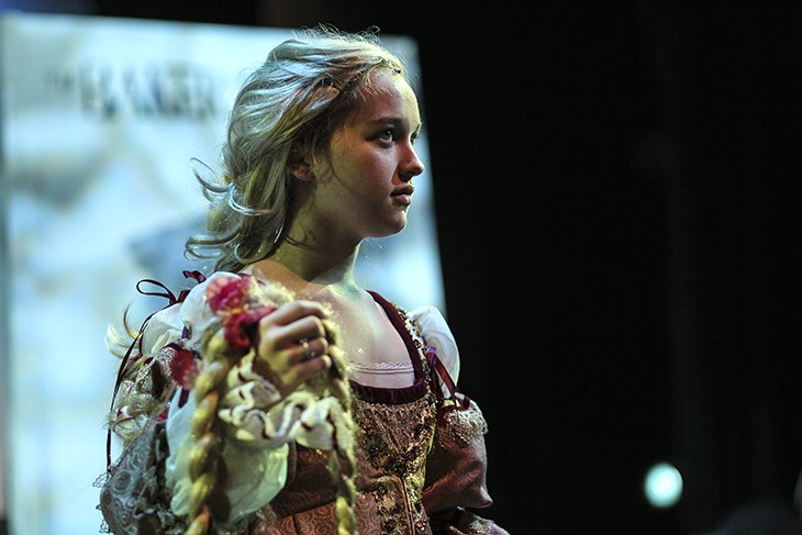 Charis as Rapunzel in Into the Woods.
