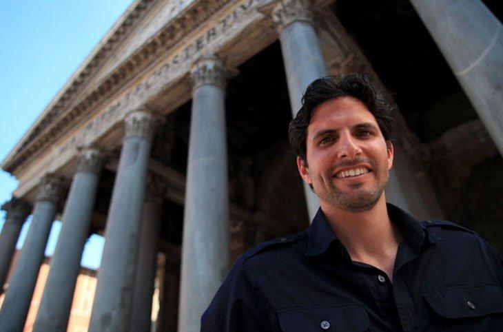 Exeter graduate Darius Arya in Rome