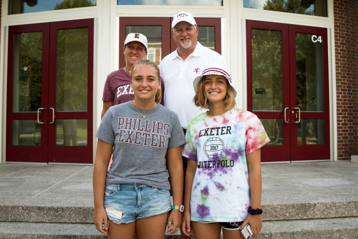 Kim and Eric Wise with their children, Isabelle '19 and Ursula '21.