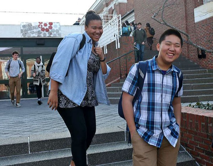 Exeter student Tim Han on campus