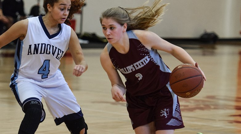 Girls basketball playing Andover.