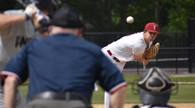Exeter pitcher throws a fastball.