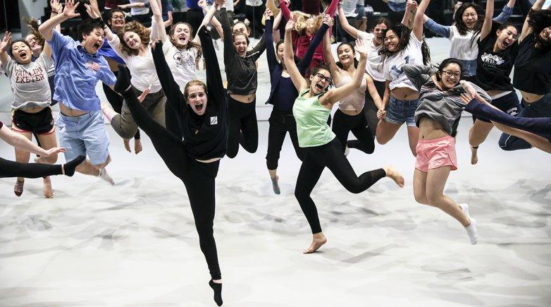 Students in Goel Center